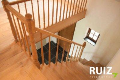 rustieke landelijke houten trap