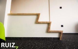 houten z trap bekleding
