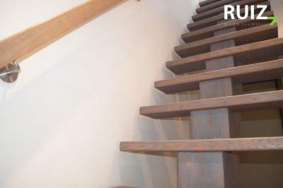 design trap met centrale boom geolied in een 2 componenten olie